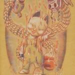psycho fox (18x24) 2012 malojoart