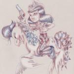 redneck pirate girl (18x24) 2012 malojoart
