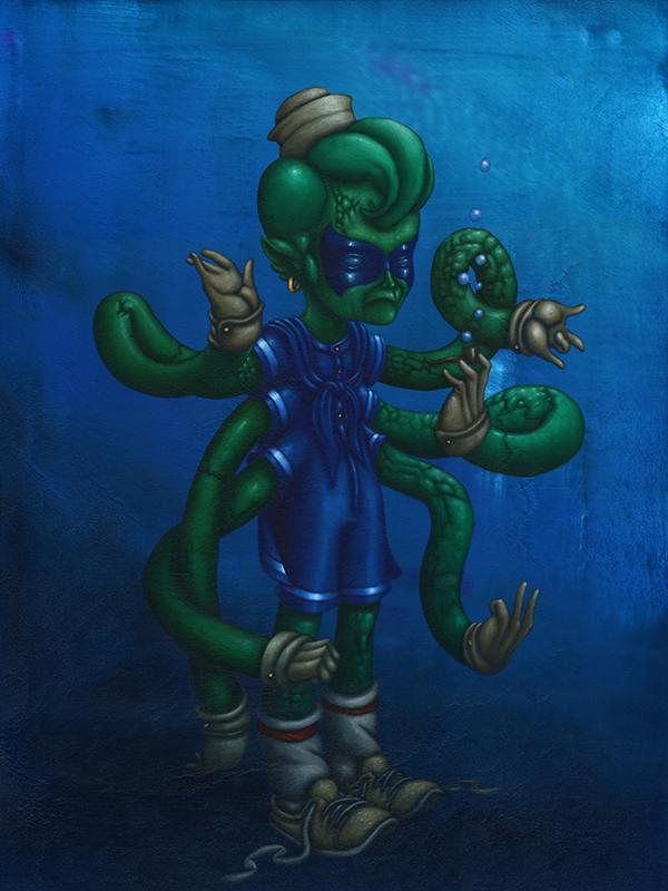 uncanny squid lad (30x40)