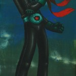 henshin oil and acrylic on wood 50x20